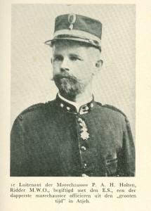 1e Luitenant P.A.H. Scholten, Ridder Militaire Willemsorde der 4e klasse met eresabel, Korps Marechaussee Indisch leger